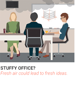 Stuffy Office? Why fresh air could leader to fresh ideas.
