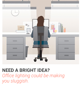 Need a Bright Idea? Office lighting could be making you sluggish.