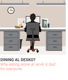Dining al Desko? Why eating alone at work is bad for everyone.